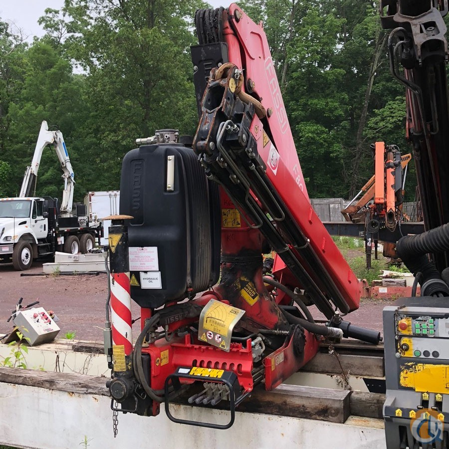 2009 FASSI F80A.23 K606 Crane for Sale in Hatfield Pennsylvania on CraneNetwork.com