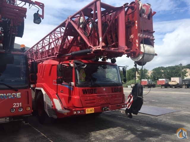 2009 GROVE GMK 5165-2 RED Crane for Sale or Rent in Cleveland Ohio on CraneNetwork.com