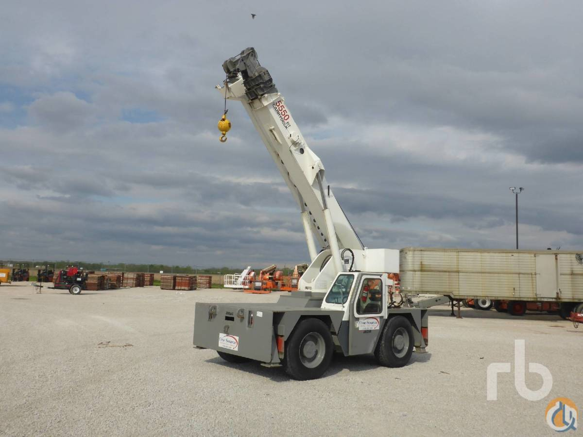 2001 SHUTTLELIFT 5550RT 15 Ton 4x4X4 Carry Deck Crane Crane for Sale in Chicago Illinois on CraneNetworkcom