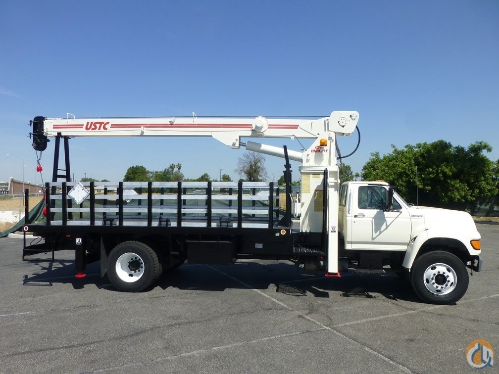 1997 Ford F800 USTC 1000JBT 10 Ton Crane Truck Crane for Sale in Norwalk California on CraneNetworkcom