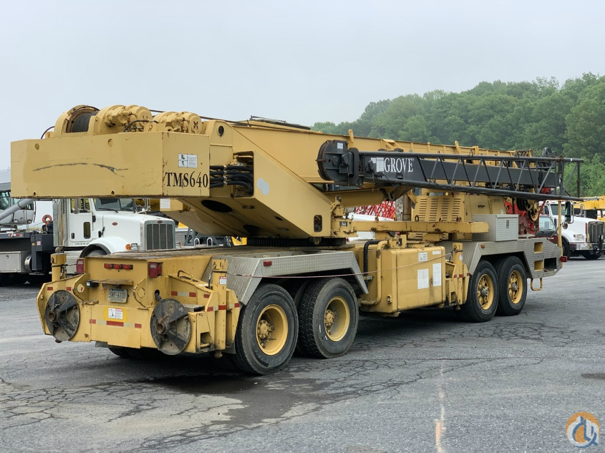 1997 GROVE TMS640 TRUCK CRANE Crane for Sale in Harrisburg Pennsylvania on CraneNetwork.com