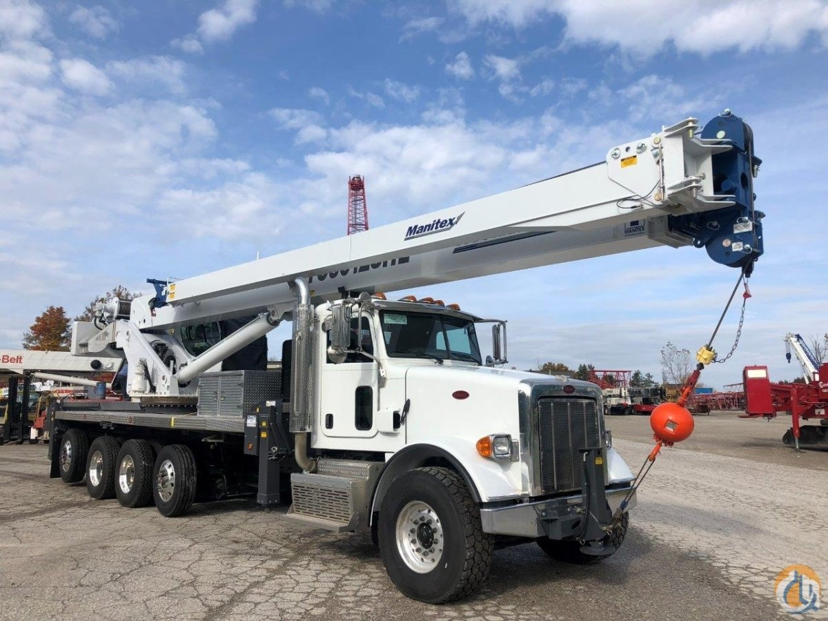 NEW Manitex TC50128SHL mounted on a new 2019 Peterbilt 365 Crane for Sale in Solon Ohio on CraneNetwork.com