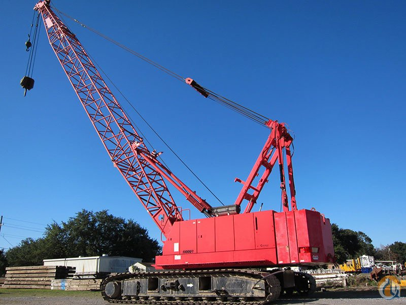 MANITOWOC 10000 100 TON CRAWLER CRANE WITH 200FT BOOM   60FT JIB AC FREE FALL ON BOTH DRUMS Crane for Sale or Rent in Stamford Connecticut on CraneNetworkcom