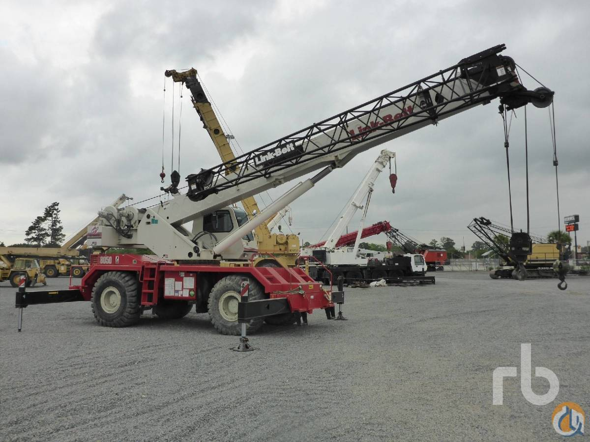 Sold 2007 LINK BELT RTC8050 ll 50 Ton 4x4x4 Rough Terrain Crane Crane for  in Houston Texas on CraneNetworkcom