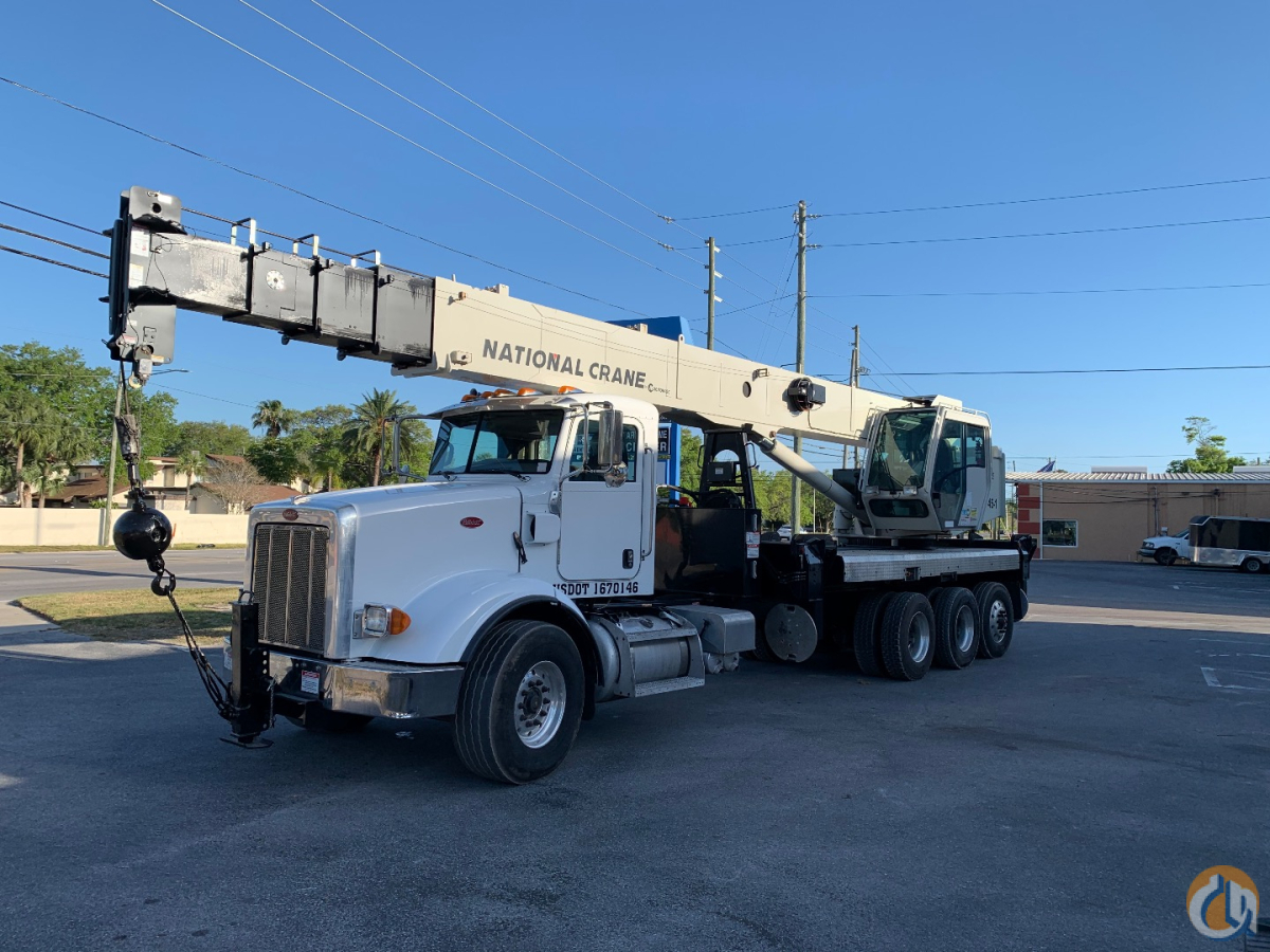 2014 National NBT45-127 Boom Mounted on 2014 Peterbilt 365 Chassis Paccar PX-9 380HP Eaton Fuller Transmission AC Driver and Upper Cab Aluminum Outrigger Pads Front Stabilizer 220 lbs Overhaul Ball 49k Engine Miles 4395 Upper Ca Crane for Sale in Clearwater Florida on CraneNetwork.com