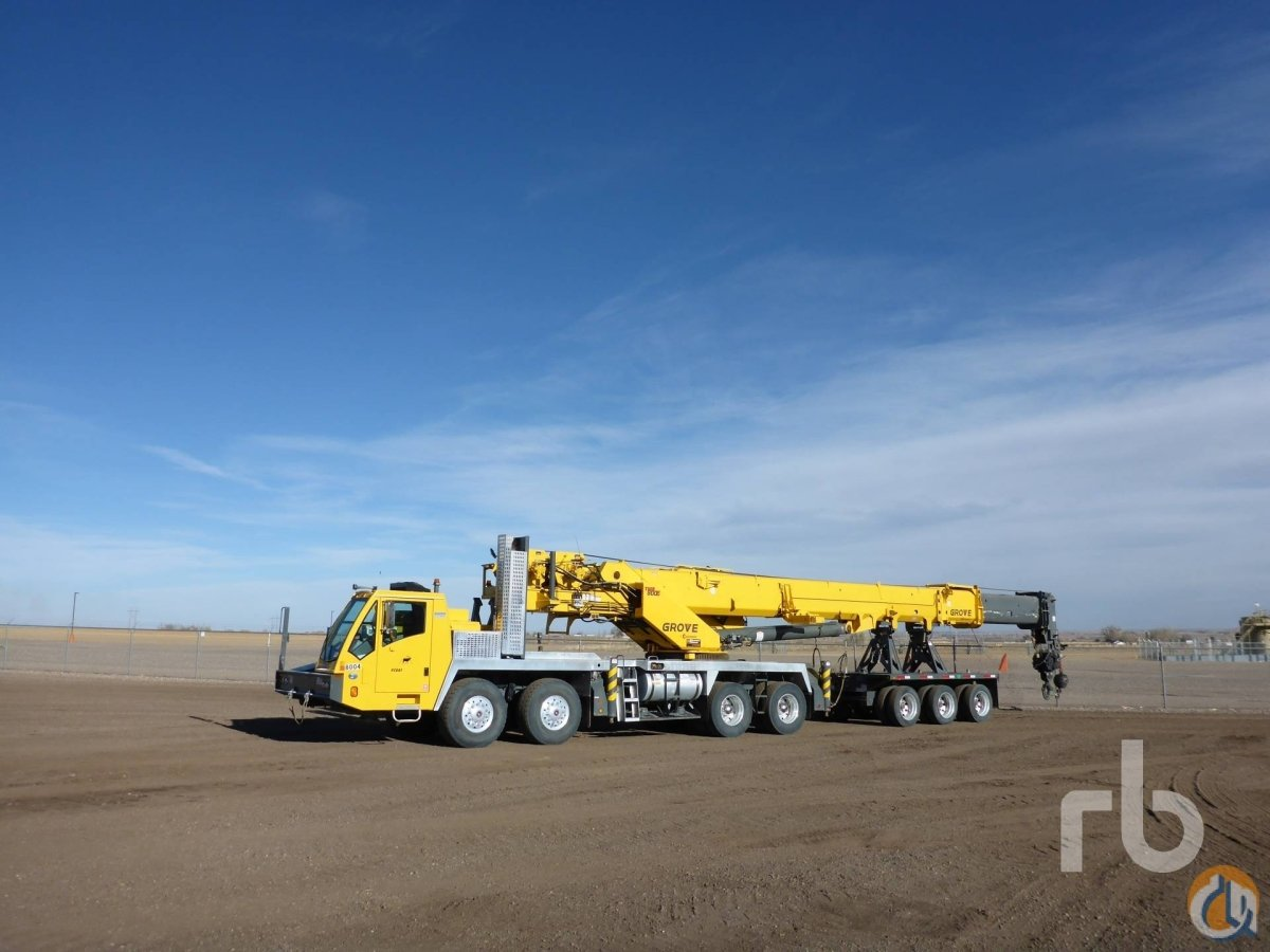 Sold 2014 GROVE TMS800E 80 Ton 8x4x4 Hydraulic Truck Crane Crane for  in Denver Colorado on CraneNetworkcom