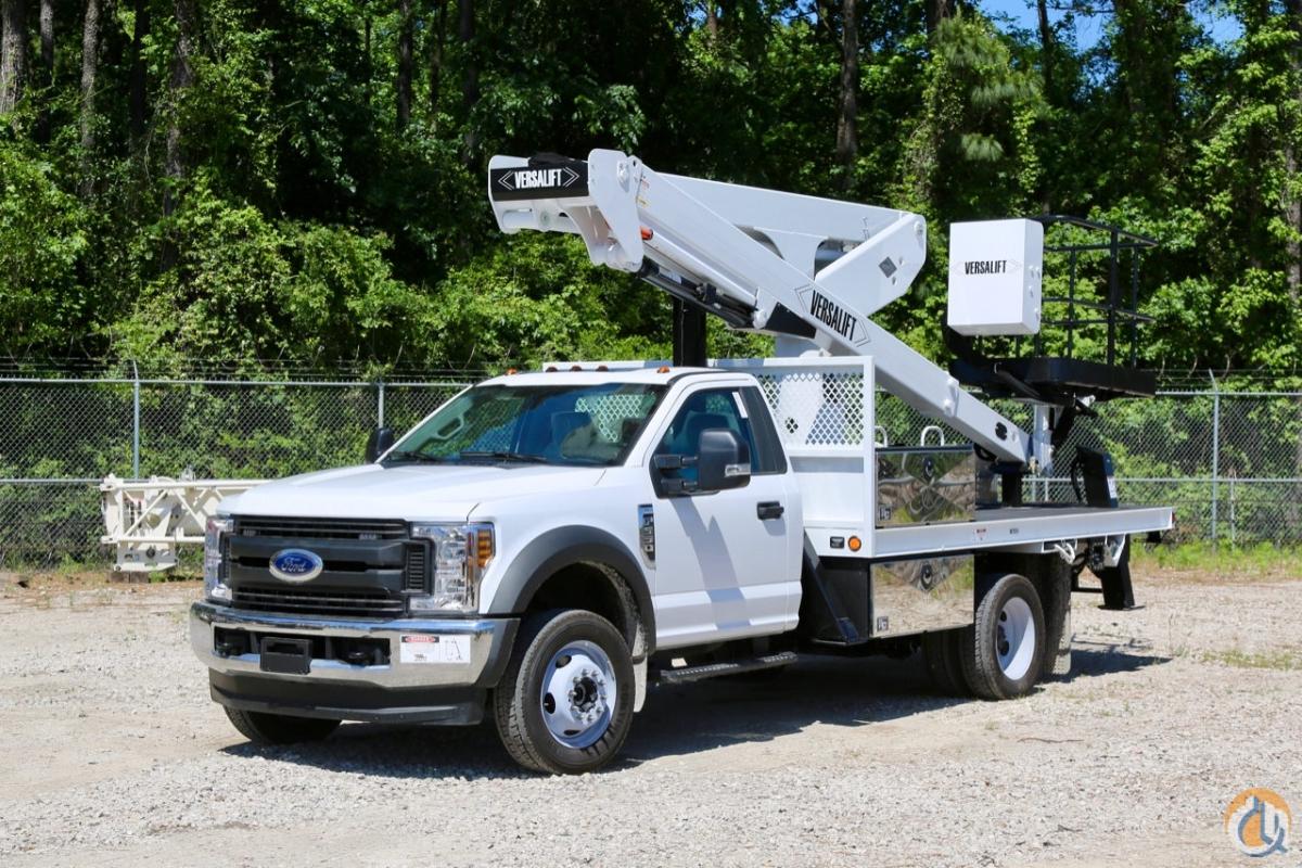 New 2019 Versalift VST 50 TN bucket truck mounted to Ford F