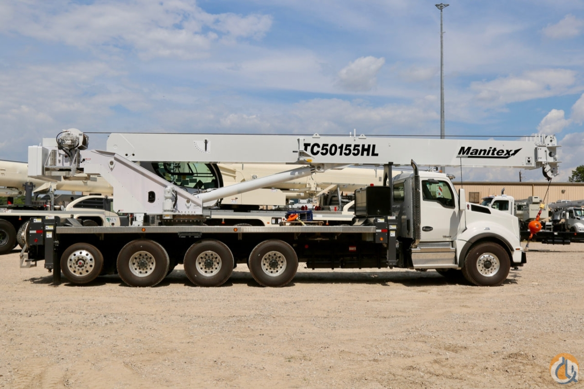 Manitex TC50155HL mounted to 2020 Kenworth T880 chassis Crane for Sale in Houston Texas on CraneNetwork.com