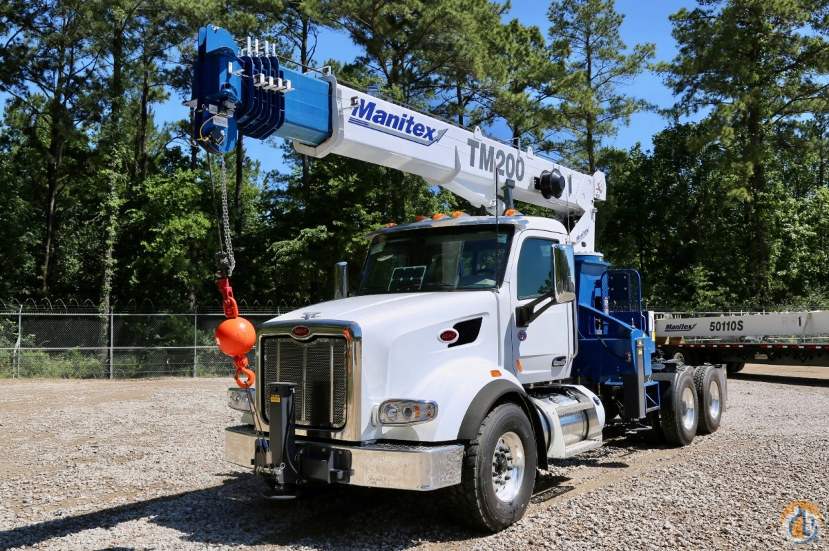 New Manitex 2085T  TM200 mounted to Peterbilt 567 chassis Crane for Sale in Houston Texas on CraneNetwork.com