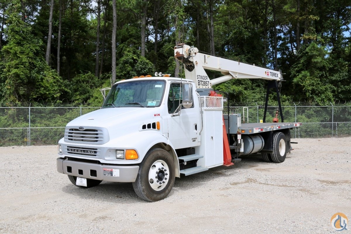 Used Terex Stinger BT2857 mounted to 2008 Sterling Acterra chassis Crane for Sale in Houston Texas on CraneNetwork.com