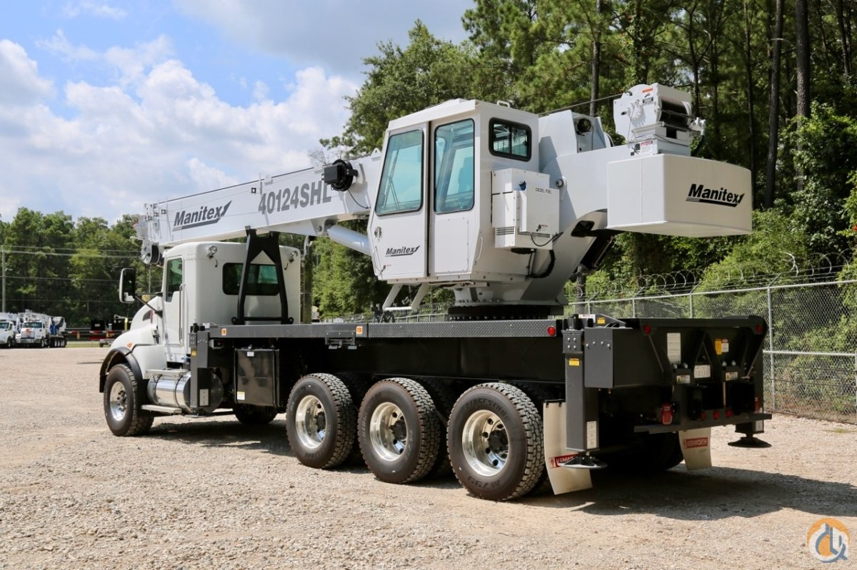 New Manitex 40124SHL 40-ton boom truck mounted to 2018 Kenworth T440 chassis Crane for Sale in Houston Texas on CraneNetworkcom