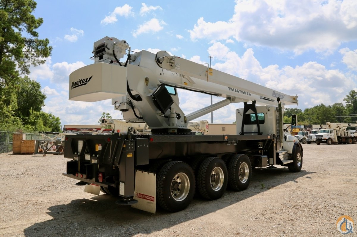 Sold New Manitex 40124SHL 40-ton boom truck mounted to 2018 Kenworth T440 chassis Crane for  in Houston Texas on CraneNetwork.com