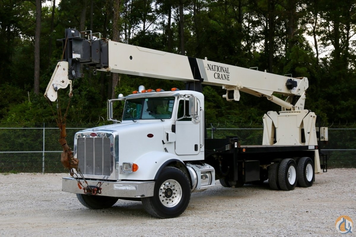 Sold Used National 9125A mounted to 2008 Peterbilt 365 chassis Crane for  in Houston Texas on CraneNetwork.com