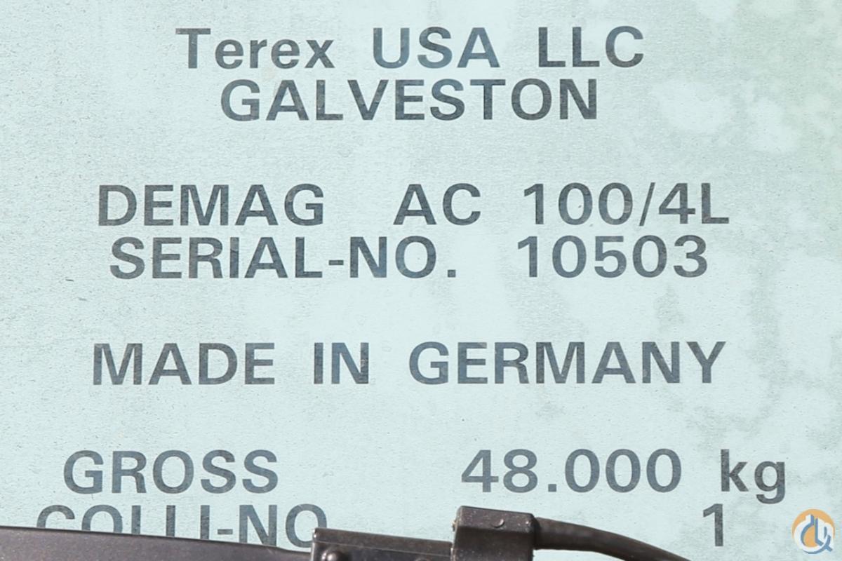 Sold New Demag AC100-4L all terrain crane Crane for in Houston Texas ...