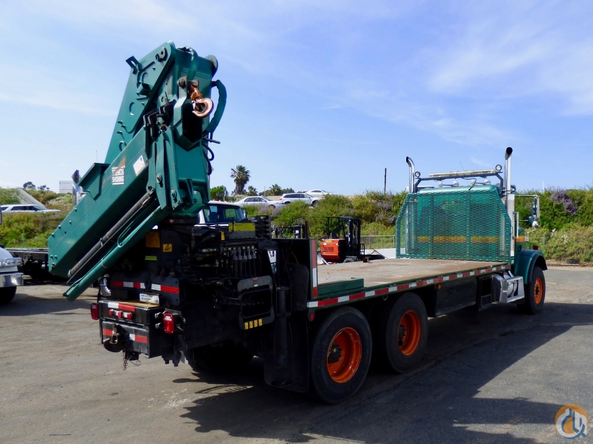 Hiab 300-3 articulating crane mounted to Freightliner FLD 120S chassis Crane for Sale in San Marcos California on CraneNetworkcom