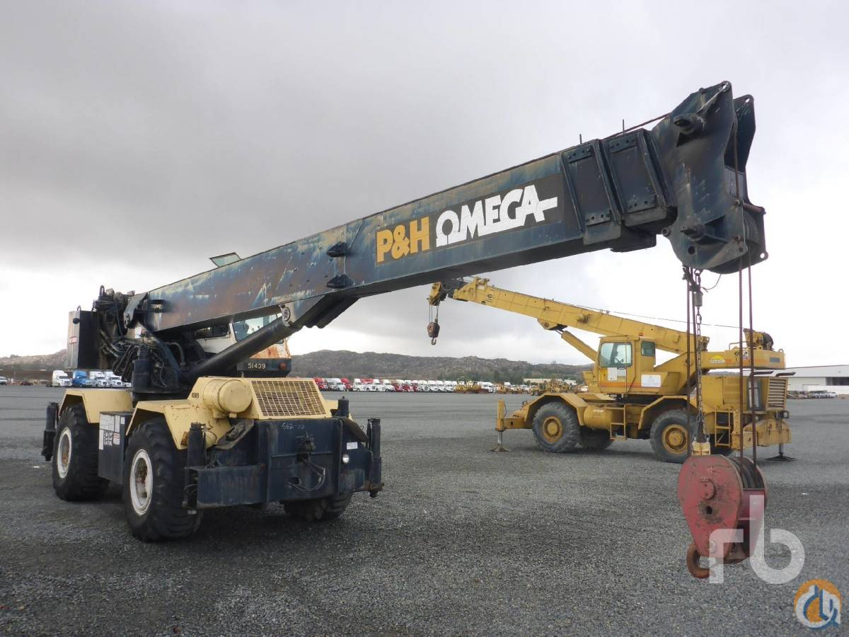 Sold 1982 P  H OMEGA 30 Crane for  in Los Angeles California on CraneNetworkcom