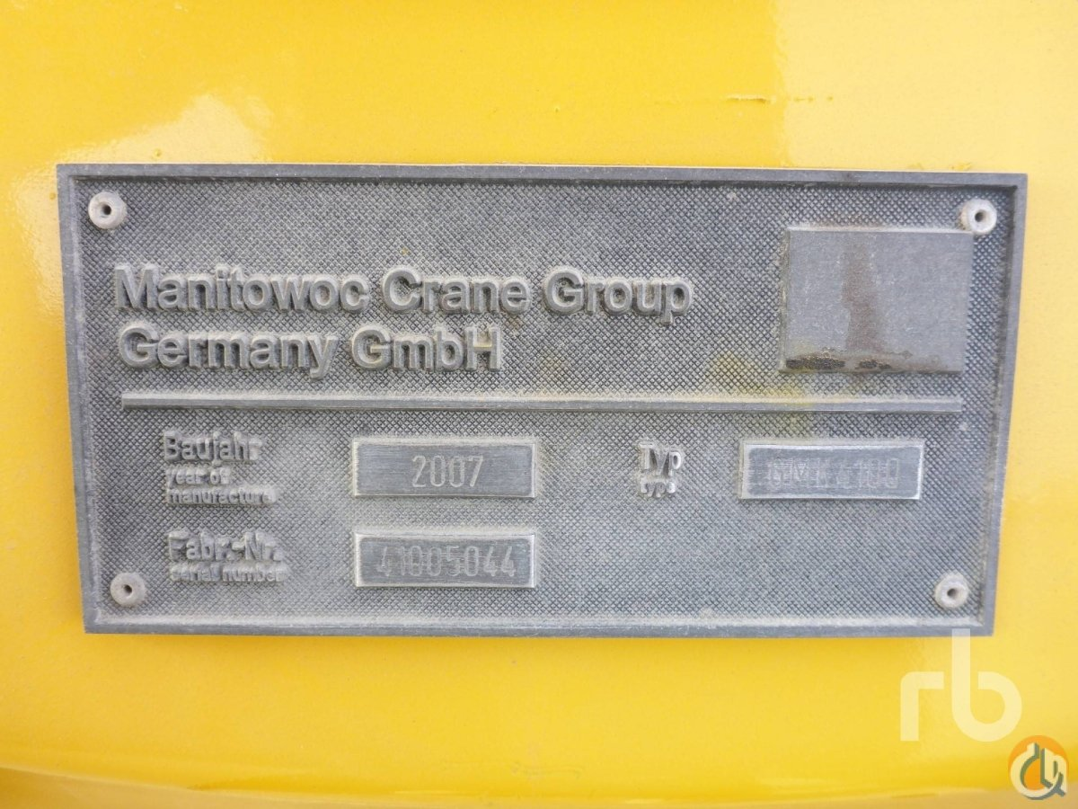 Sold 2007 GROVE GMK4100 100 Ton 8x8x8 All Terrain Crane Crane for  in Dubai Dubai on CraneNetwork.com