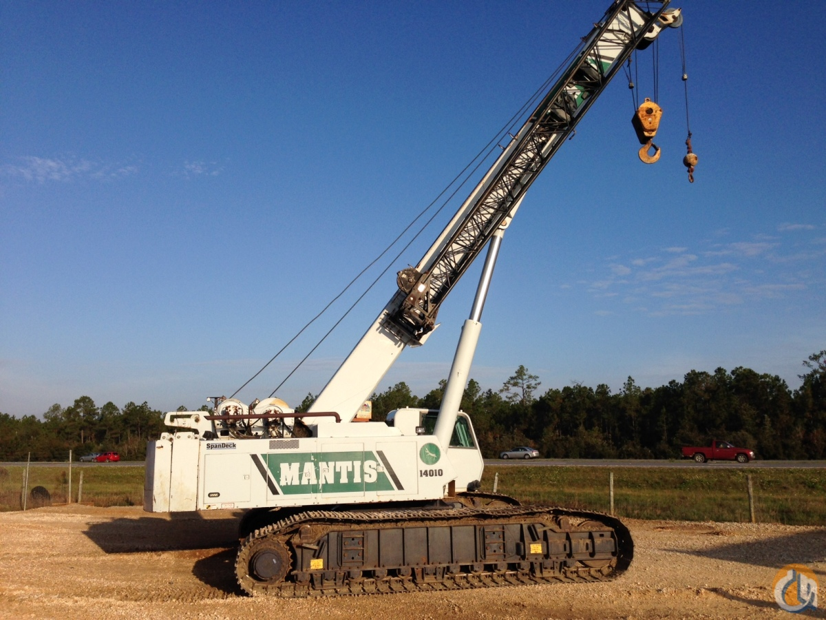 Sold 2007 Mantis 14010 Hyd  Crawler For Sale Crane For In Biloxi Mississippi On Cranenetwork Com