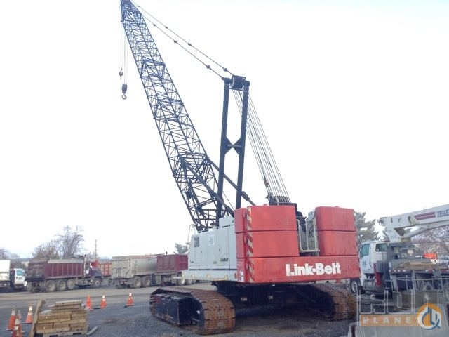 Link Belt Crawler Cranes : Sold link belt hsl lattice boom crawler crane