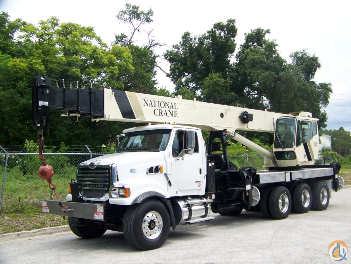 2009 National 1500 on a Sterling L8500 Crane for Sale in Tampa Florida on CraneNetwork.com