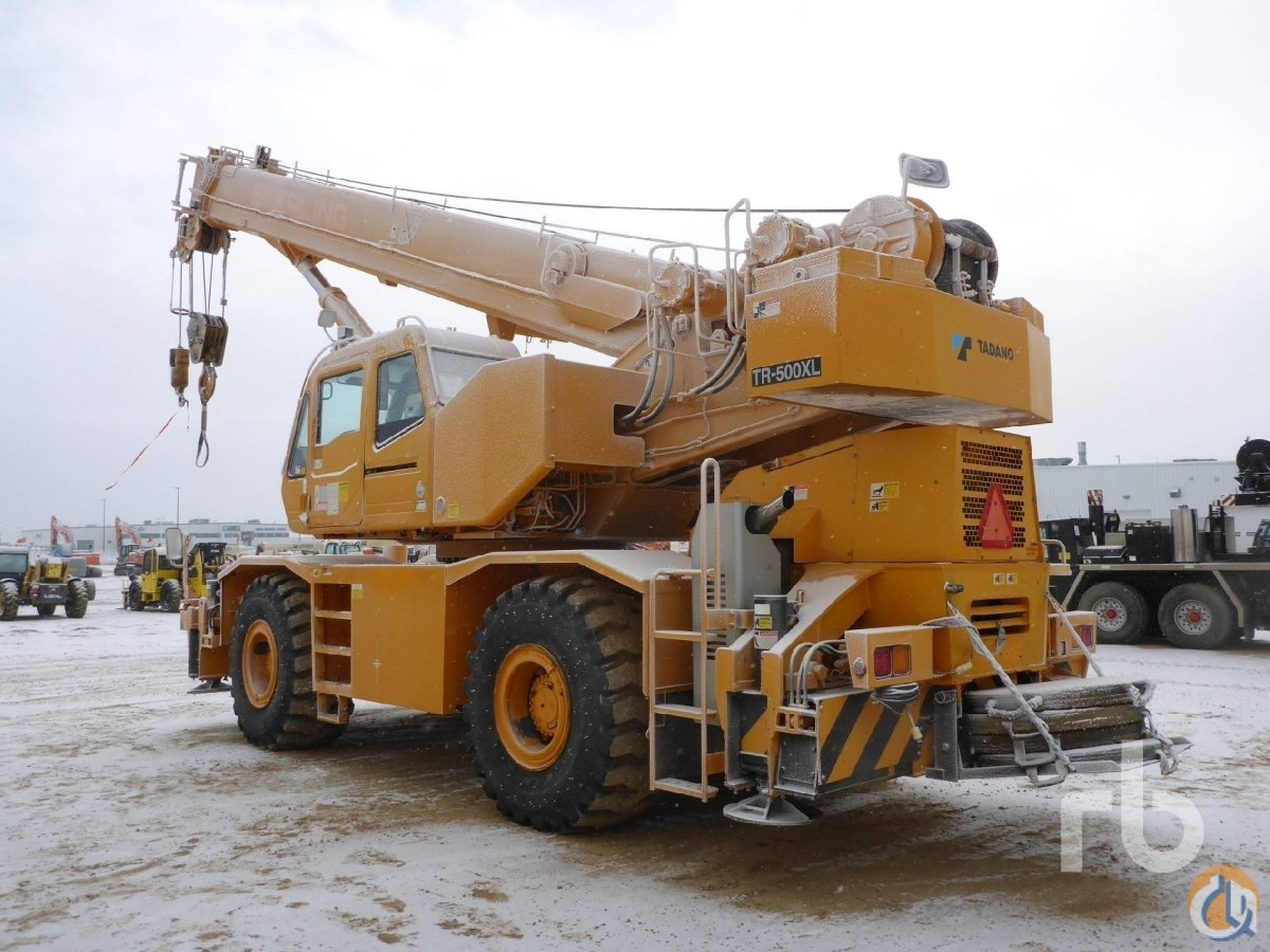 Sold 2007 TADANO TR500XL 50 Ton 4x4x4 Rough Terrain Crane Crane for  in Edmonton Alberta on CraneNetworkcom