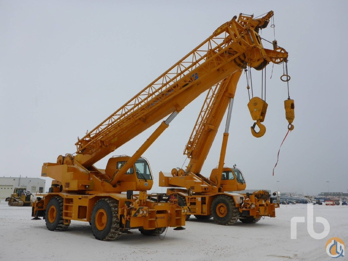 Tadano TR500XL Rough Terrain Cranes Crane for Sale 2007 TADANO TR500XL 50 Ton 4x4x4 Rough Terrain Crane in Edmonton  Alberta  Canada 219052 CraneNetwork