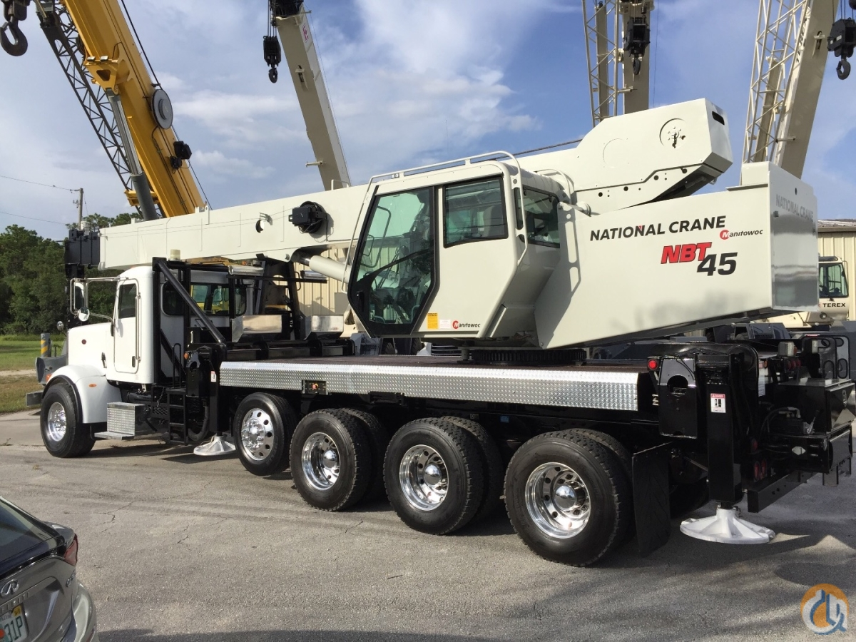 2011 NATIONAL NBT45 45 TON 367 PETE 425HP CUMMINS TRI-DRIVECROSS-LOCKS PLUS AIR LIFT VERY LOW HRS  MILES FLORIDA Crane for Sale in Fort Pierce Florida on CraneNetwork.com