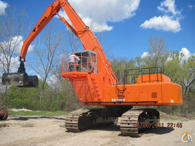 Material Handler Crane For Sale  Hitachi 850 Crane for Sale in Hennepin Illinois on CraneNetworkcom