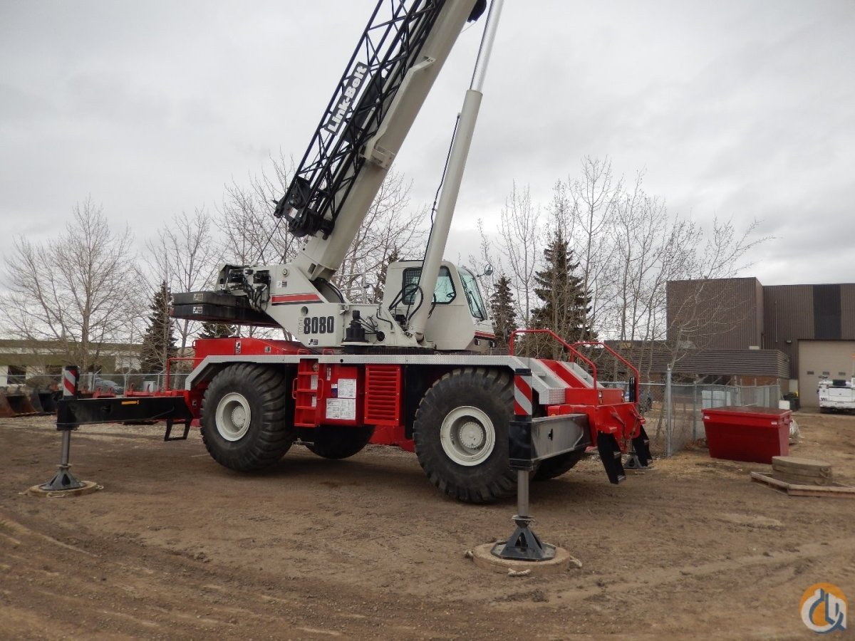 2015 Link-Belt RTC-8080 II Rough Terrain Crane Crane for Sale or Rent in Edmonton Alberta on CraneNetwork.com