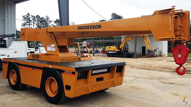 2000 IC200-2C 15TON BRODERSON DIESEL WITH NEW OSHA CERTIFICATION Crane for Sale on CraneNetworkcom