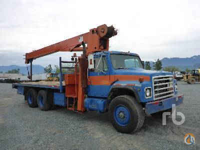1987 INTERNATIONAL F1954 TA wPitman HL14T76 Boom Truck Crane for Sale in Chilliwack British Columbia on CraneNetworkcom