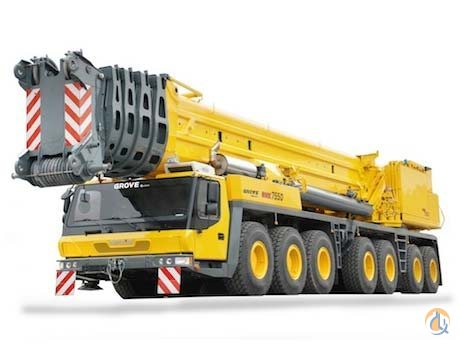 2016 Grove GMK7550 Crane for Sale or Rent in La Porte Texas on CraneNetwork.com