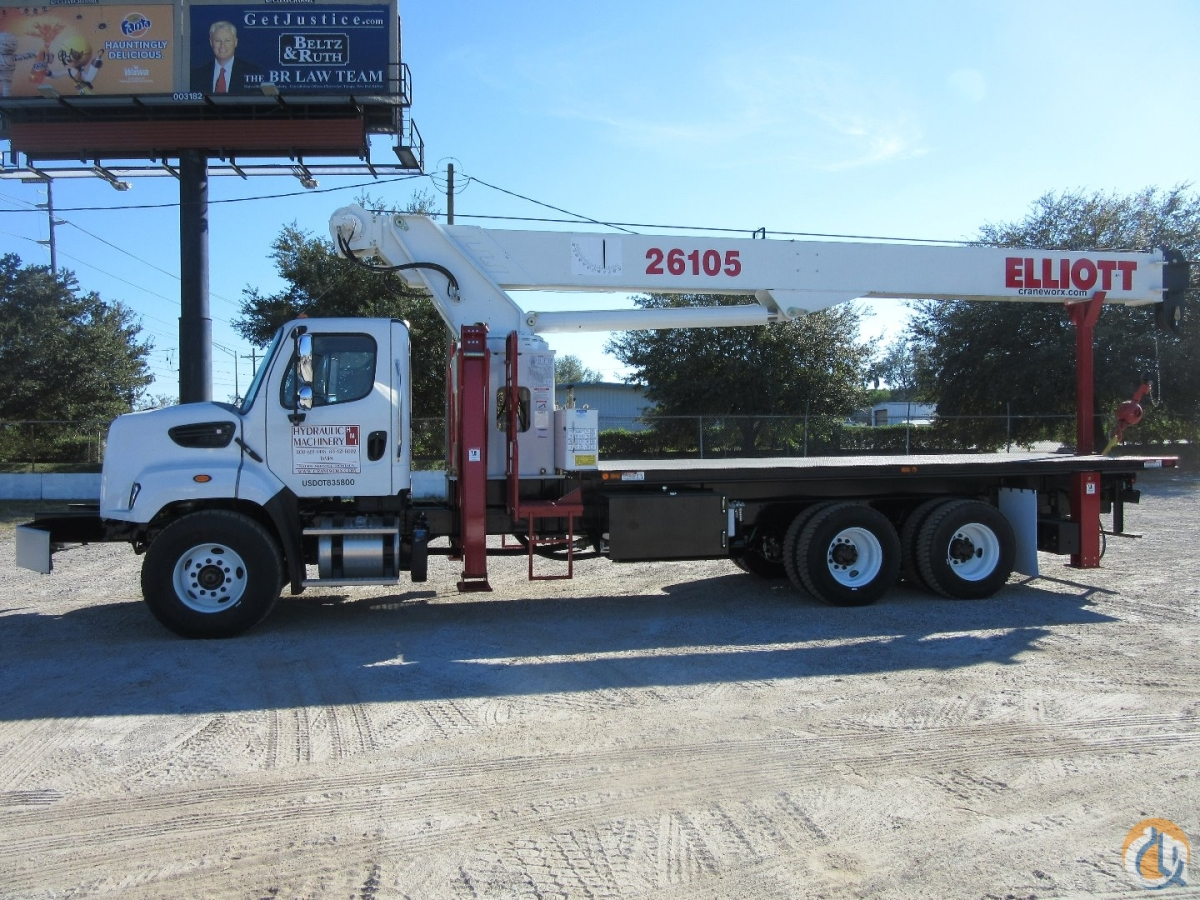 2015 Elliott 26105F on a 2016 Freightliner 108SD Crane for Sale in Tampa Florida on CraneNetwork.com
