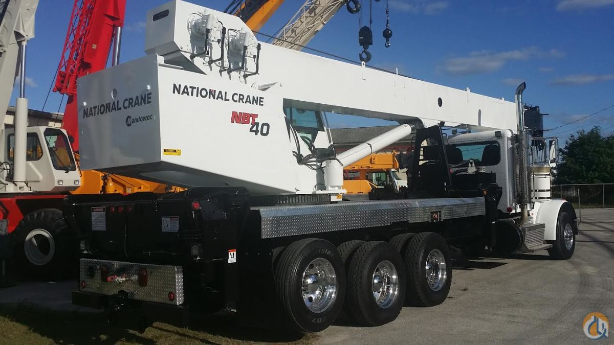 2012 NATIONAL NBT40 PETERBILT 367 485 HP 40 TON FLORIDA Crane for Sale or Rent in Fort Pierce Florida on CraneNetworkcom