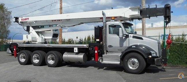 2016 Kenworth 800 Tridem - Elliott 36127R Stiff Boom Crane for Sale in Vancouver British Columbia on CraneNetworkcom