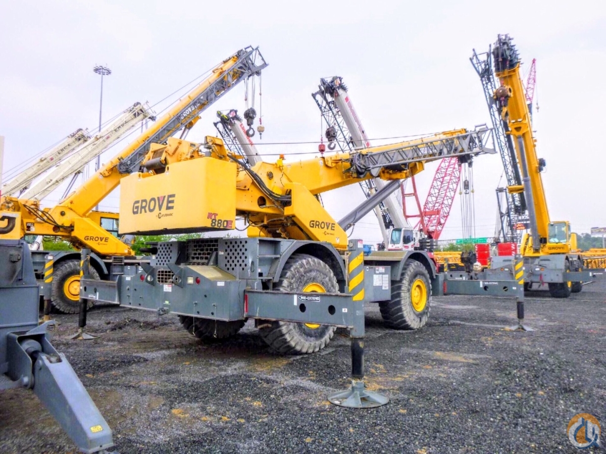2011 GROVE RT880E 80 TON IN FLORIDA 128 56 Crane for Sale in Fort Pierce Florida on CraneNetwork.com