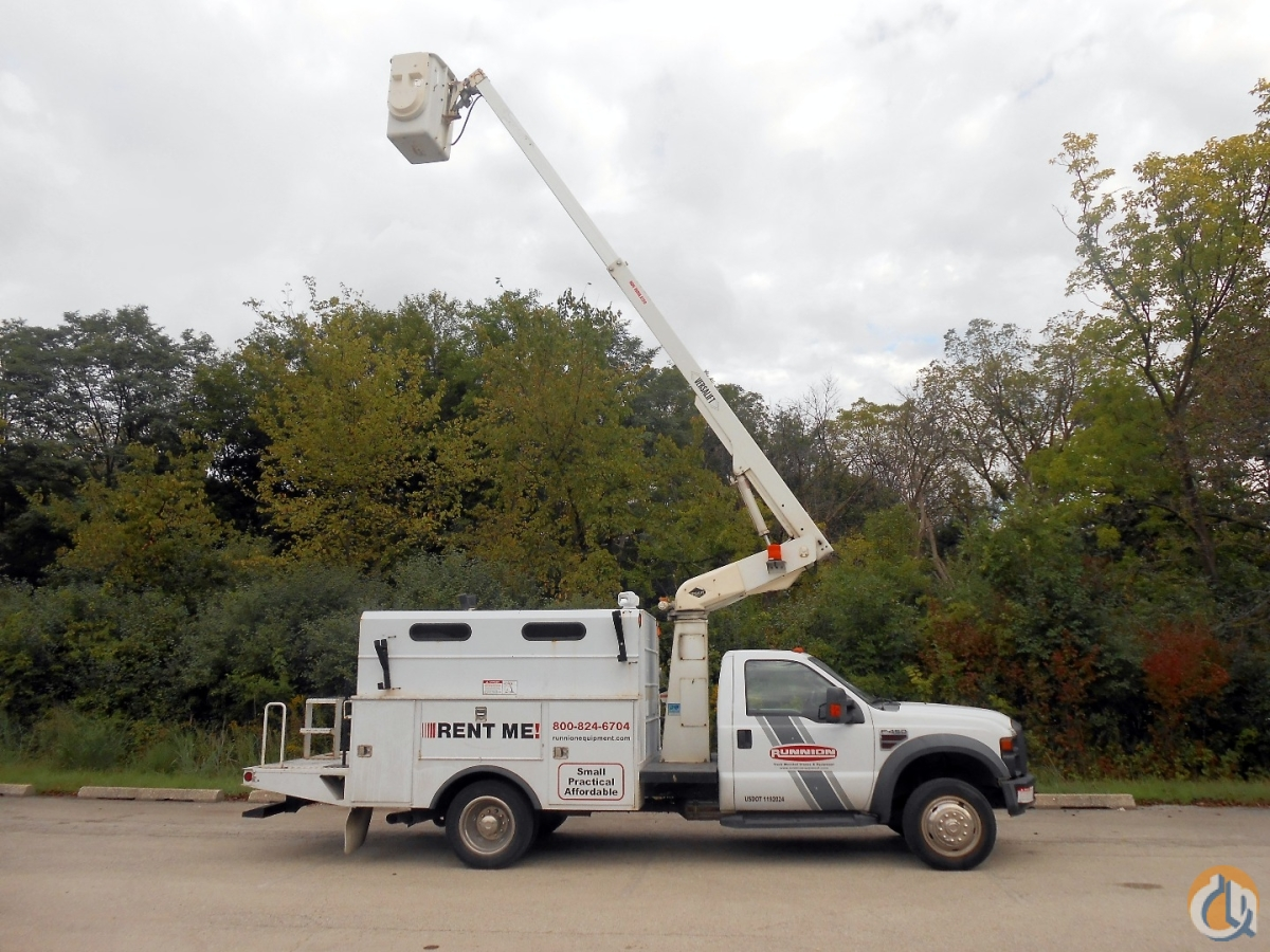 Versalift TEL-29-NNE Ford F450 bucket truck Crane for Sale or Rent in McCook Illinois on CraneNetwork.com