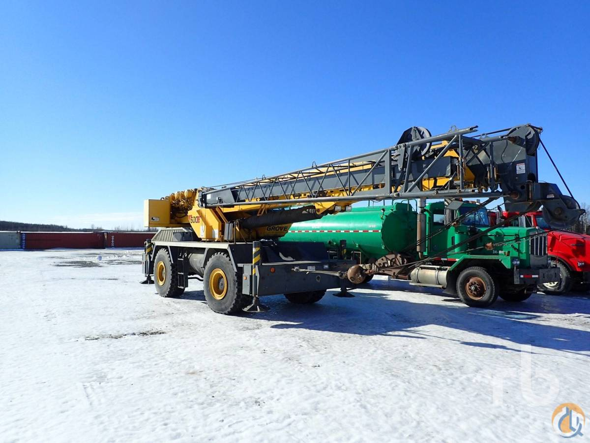 Sold 2003 GROVE RT600E 50 Ton Rough Terrain Crane Crane for  in Wasilla Alaska on CraneNetwork.com