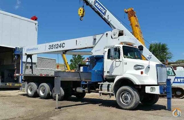 Sold Manitex 35 ton 124 boom 6x6 chassis Crane for in Solon Ohio on