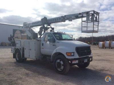 Sold MTI/Telsta T40C BUCKET TRUCK - CABLE PLACING Crane for