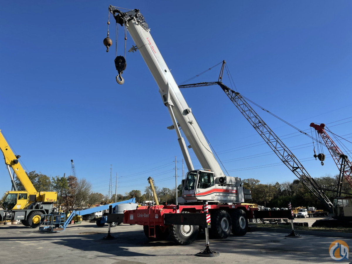 2005 LINK BELT RTC80100 ROUGH TERRAIN CRANE Crane for Sale in Dallas Texas on CraneNetwork.com
