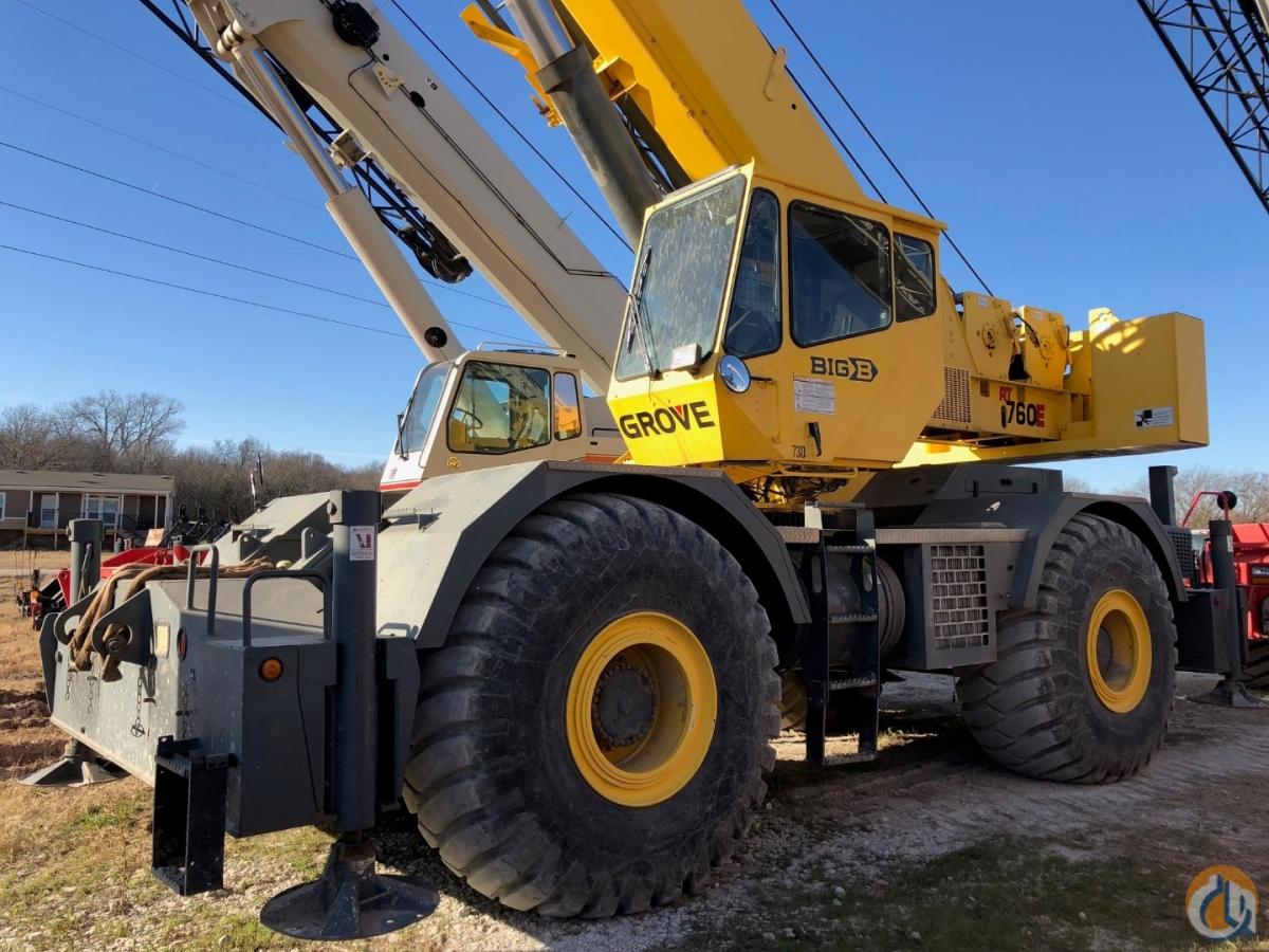 2005 GROVE RT760E 60 TON ROUGH TERRAIN Crane for Sale or Rent in Burleson  Texas on