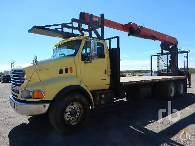 Sold 2001 STERLING L9500 TA wPalfinger PW350 Boom Truck Crane for  in Truro Nova Scotia on CraneNetworkcom