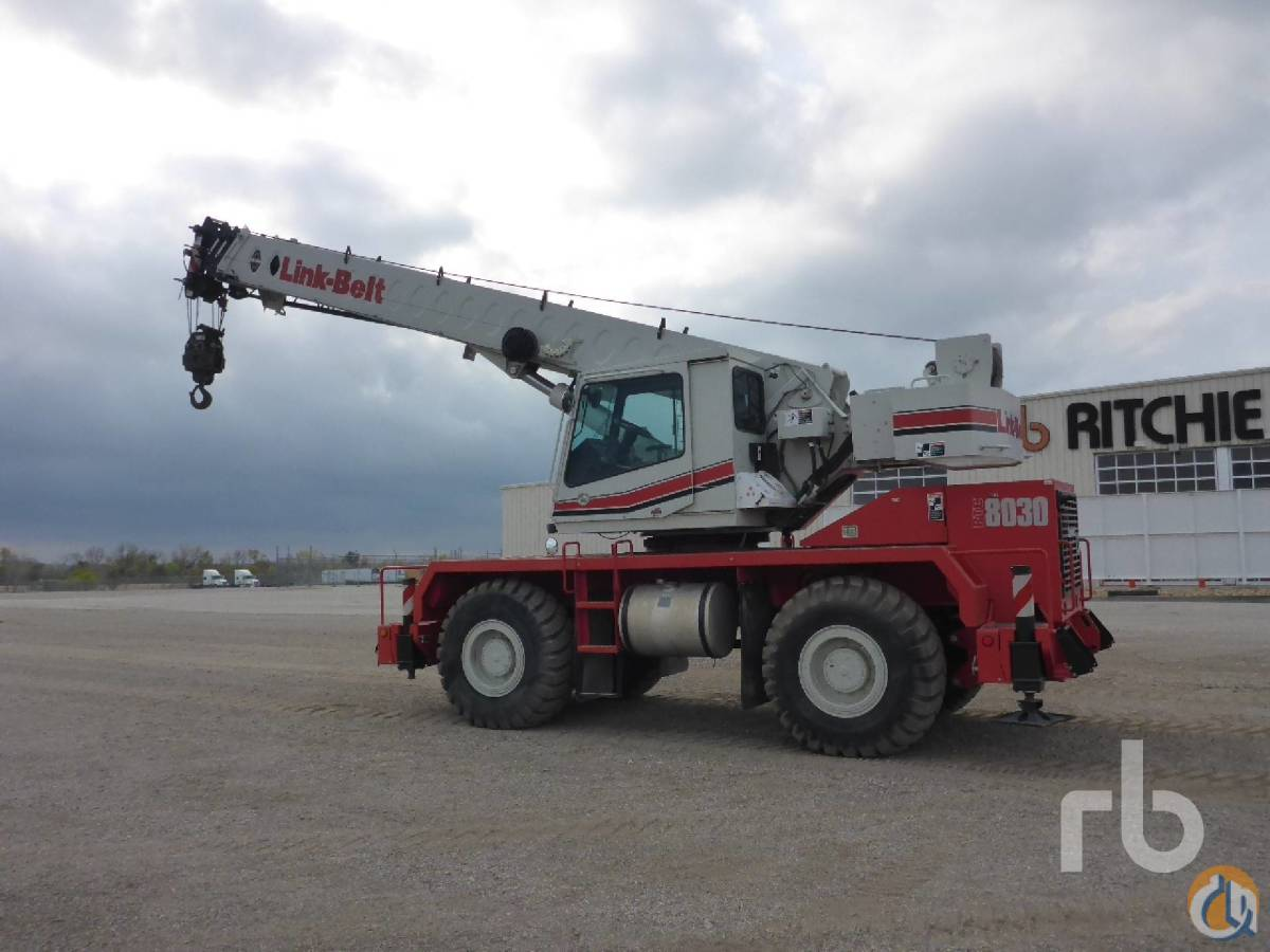 Link-Belt RTC8030 Rough Terrain Cranes Crane for Sale 2013 LINK-BELT RTC8030 Series II 30 Ton 4x4x4 Rough Terrain Crane in Kansas City  Missouri  United States 217971 CraneNetwork