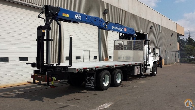NEW POWERLIFT 74 WALLBOARD BOOM  74 VERTICAL REACH on NEW 2020 FREIGHTLINER M2-106 TA  24 4 ALUMINUM DECK  350 HP  ALLISON AUTO Crane for Sale in Toronto Ontario on CraneNetwork.com