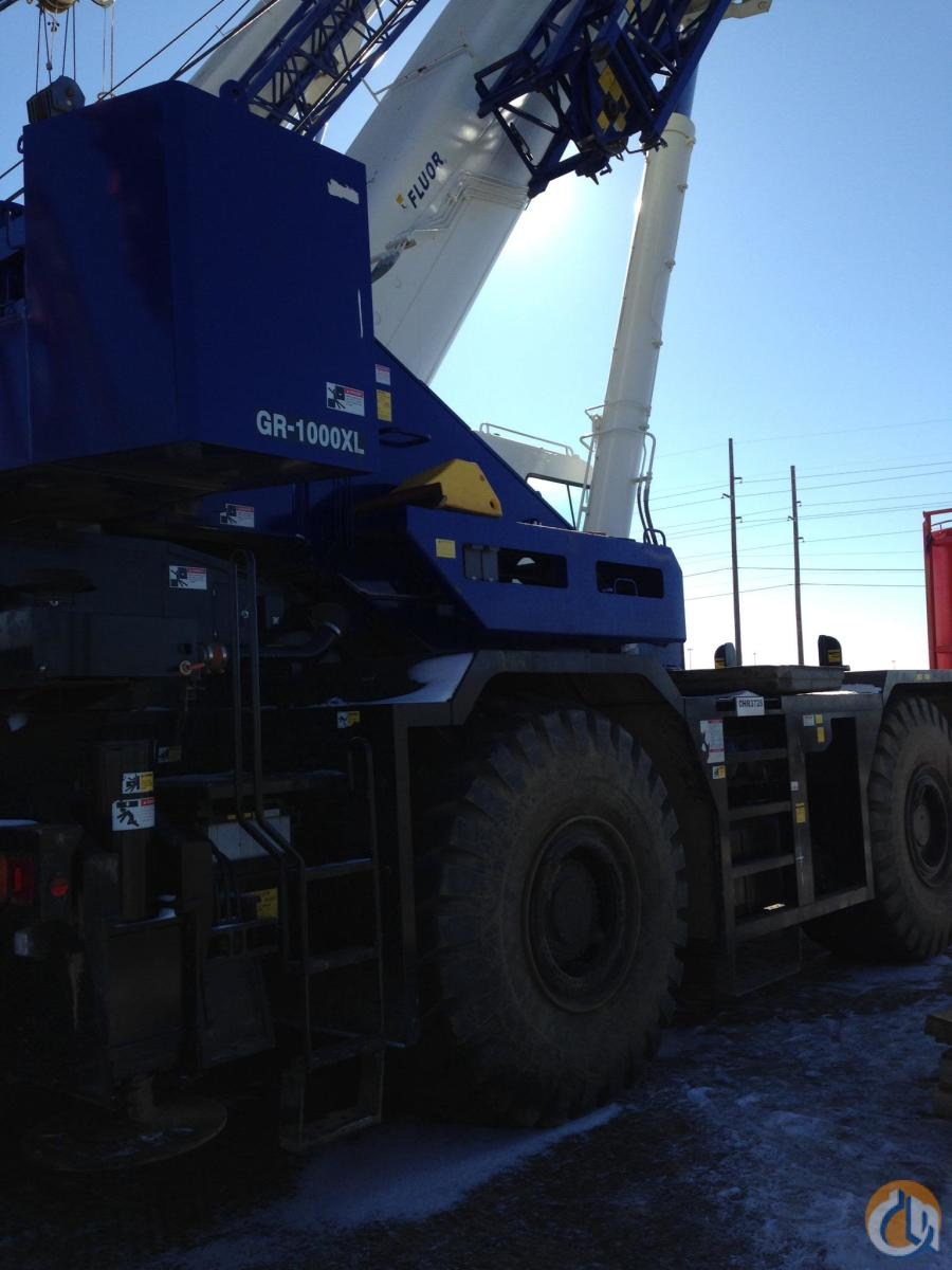 2015 TADANO GR-1000XL Crane for Sale or Rent in Edmonton Alberta on CraneNetworkcom