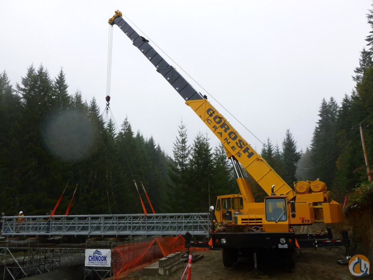 Sold 1982 Grove Tm875 Crane For In Nanaimo British