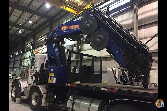 Used 2014 PM 100028 SP knuckle boom mounted to Kenworth T800 chassis Crane for Sale in Olathe Kansas on CraneNetwork.com