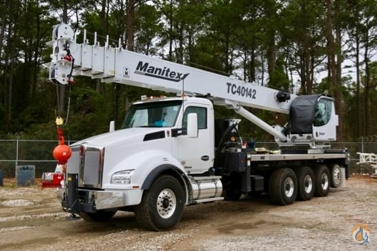 2018 Manitex TC40142 mounted to 2019 Kenworth T880 chassis Crane for Sale in Houston Texas on CraneNetwork.com