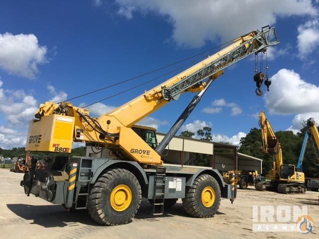 2010 Grove RT880E Rough Terrain Crane Crane for Sale in Sulphur Louisiana on CraneNetworkcom